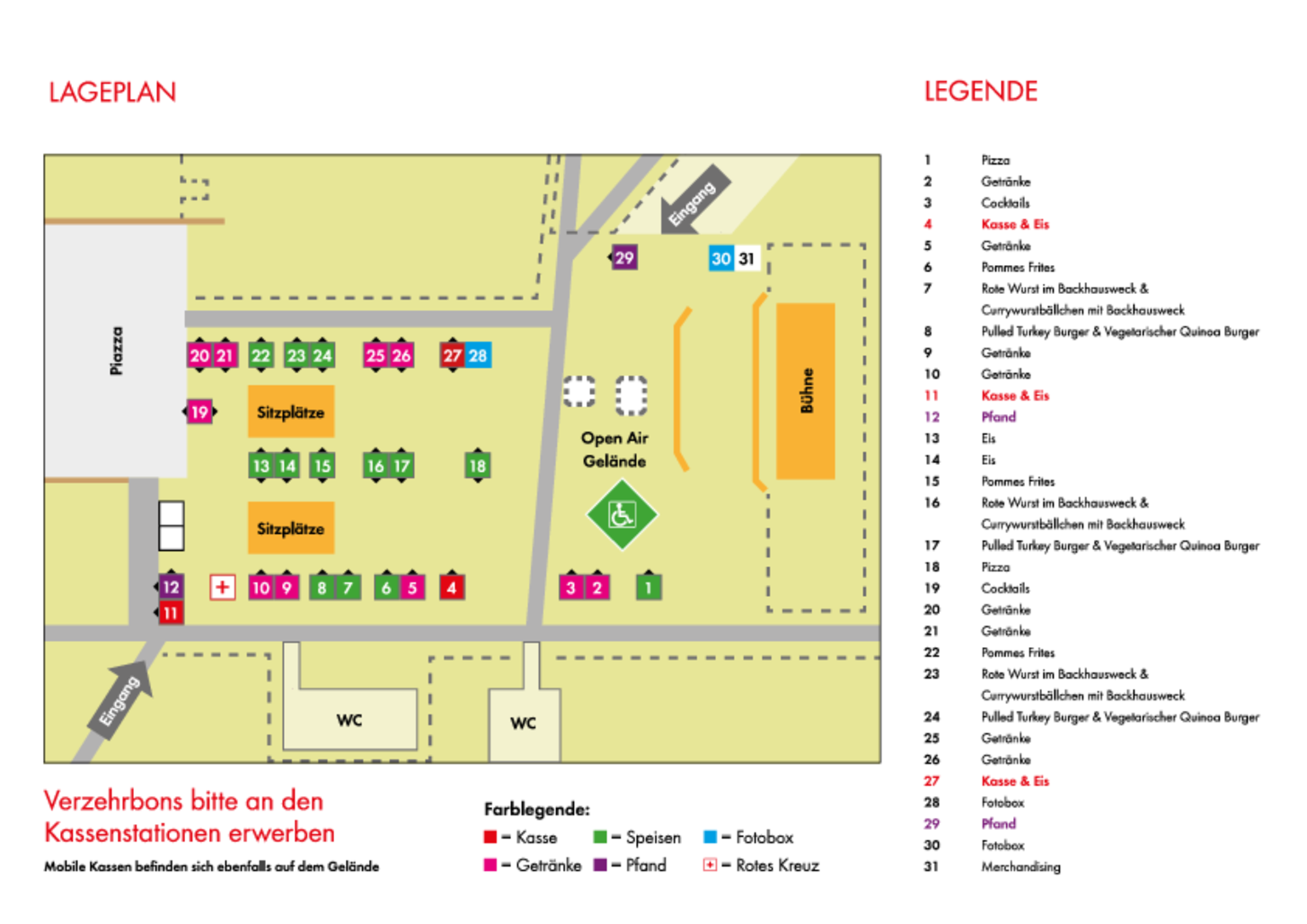 Lageplan Würth Open Air 2019